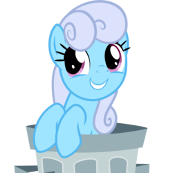 Size: 500x500 | Tagged: safe, artist:the smiling pony, linky, shoeshine, earth pony, pony, derpibooru, .svg available, derpibooru badge, female, happy, meta, simple background, smiling, solo, svg, transparent background, trash can, vector