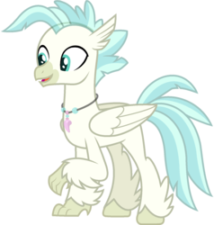 Size: 1492x1566   Tagged: safe, artist:lorenacarrizo18, terramar, classical hippogriff, hippogriff, season 8, surf and/or turf, base, feathered fetlocks, jewelry, male, necklace, raised claw, simple background, solo, transparent background