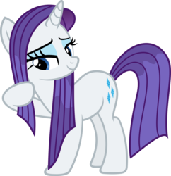 Size: 4359x4500 | Tagged: artist:slb94, rarity, safe, simple background, transparent background, vector, wet mane
