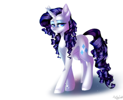 Size: 1024x837 | Tagged: artist:huirou, eyeshadow, female, lidded eyes, looking at you, makeup, mare, pony, rarity, safe, simple background, solo, unicorn, white background