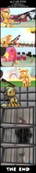 Size: 3944x19068 | Tagged: 3d, absurd res, apple bloom, applejack, artist:goatcanon, big macintosh, comic, comic:aj vs fox, discord, fire, flamethrower, fox, granny smith, padded cell, safe, source filmmaker, sweet apple acres, this is fine