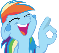 Size: 971x880 | Tagged: alternate version, crying, editor:shadowthecat35, friendship is magic, hand, laughing, meme, rainbow dash, safe, simple background, solo, tears of laughter, transparent background