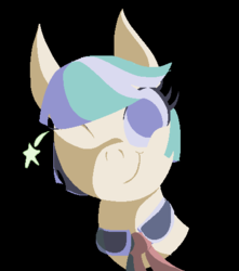 Size: 421x477 | Tagged: artist:cammy, black background, coco pommel, cute, limited palette, one eye closed, pixel art, safe, simple background, smiling, solo, wink