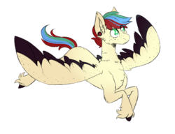 Size: 1300x1000 | Tagged: artist:cinnamonsparx, colored wings, male, multicolored wings, oc, oc:swift melody, pegasus, pony, safe, simple background, solo, stallion, transparent background