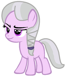 Size: 536x610 | Tagged: artist:blueberry-mlp, earth pony, female, filly, magical lesbian spawn, oc, oc:emerald snow, offspring, parent:diamond tiara, parent:silver spoon, parents:silvertiara, pony, safe, simple background, solo, white background