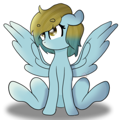 Size: 1641x1607 | Tagged: artist:moonlightdisney5, female, mare, oc, oc:brianna, pegasus, pony, safe, simple background, sitting, solo, transparent background