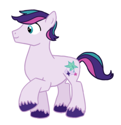 Size: 1292x1336 | Tagged: safe, artist:flipwix, star dreams, earth pony, pony, digital art, magical lesbian spawn, magical threesome spawn, male, multiple parents, next generation, offspring, parent:starlight glimmer, parent:sunset shimmer, parent:twilight sparkle, parents:shimmerglimmer, parents:sunsetsparkle, parents:twistarlight, raised hoof, simple background, solo, stallion, transparent background