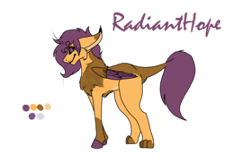 Size: 2338x1700 | Tagged: artist:thebigearredbat, darkverse, interspecies offspring, magical lesbian spawn, oc, oc only, oc:radianthope, offspring, parent:gabby, parent:scootaloo, parents:gabbyloo, safe, simple background, solo, transparent background