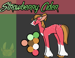Size: 1198x936 | Tagged: abstract background, artist:thebigearredbat, blaze (coat marking), darkverse, earth pony, male, oc, oc:strawberry cider, offspring, parent:big macintosh, parent:orchard blossom, parents:troublemac, parent:troubleshoes clyde, pony, safe, socks (coat marking), solo, stallion