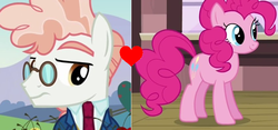 Size: 848x396 | Tagged: background pony strikes again, downvote bait, op has issues, op is a duck, pinkie pie, safe, shipping, shipping domino, svengallop, svenpie, the mane attraction, three's a crowd