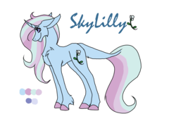 Size: 2338x1700 | Tagged: artist:thebigearredbat, darkverse, magical lesbian spawn, oc, oc only, oc:skylilly, offspring, parents:startrix, parent:starlight glimmer, parent:trixie, safe, simple background, solo, transparent background