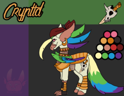 Size: 2176x1700 | Tagged: artist:thebigearredbat, classical hippogriff, darkverse, hippogriff, magical lesbian spawn, my little pony: the movie, oc, oc:cryptid, offspring, parent:captain celaeno, parent:rainbow dash, parents:celaenodash, safe, solo