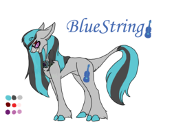 Size: 2338x1700 | Tagged: artist:thebigearredbat, darkverse, magical lesbian spawn, oc, oc:bluestring, oc only, offspring, parent:octavia melody, parents:scratchtavia, parent:vinyl scratch, safe, simple background, solo, transparent background