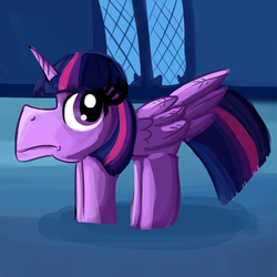 Size: 990x990 | Tagged: safe, artist:pastelhorses, artist:tjpones, twilight sparkle, alicorn, pony, collaboration, female, frown, hoers, looking up, majestic as fuck, mare, no neck, not salmon, solo, spread wings, stubby, twilight sparkle (alicorn), wat, what has magic done, what has science done, wide eyes, wings