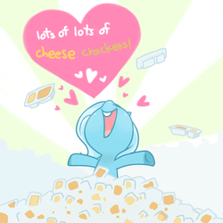 Size: 900x900 | Tagged: safe, artist:ask-little-trixie, trixie, pony, unicorn, cheese crackers, crackers, cute, diatrixes, female, filly, food, happy, heart, peanut butter, peanut butter crackers, solo, that pony sure does love peanut butter crackers, tumblr, younger