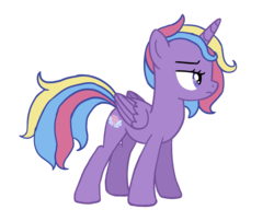 Size: 1271x1027 | Tagged: safe, artist:flipwix, princess sterling, oc, oc only, oc:princess sterling, alicorn, pony, digital art, female, magical lesbian spawn, mare, next generation, offspring, parent:princess luna, parent:trixie, parents:luxie, simple background, solo, transparent background