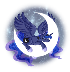 Size: 5100x5300 | Tagged: safe, artist:amazing-artsong, princess luna, pony, absurd resolution, crescent moon, female, mare, moon, simple background, sleeping, solo, tangible heavenly object, transparent background, transparent moon
