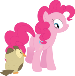 Size: 3389x3423 | Tagged: artist:porygon2z, eyes on the prize, owlowiscious, pinkie pie, plot, safe, simple background, transparent background