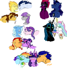 Size: 3036x3264 | Tagged: alicorn, artist:captainloafnugget, bisexual, blushing, boop, cheese sandwich, chryslestia, earth pony, female, flashlight, flash sentry, food, ice cream, lesbian, male, maud pie, maudwich, my little pony: the movie, noseboop, pegasus, pony, princess celestia, princess luna, queen chrysalis, rainbow dash, safe, sci-twi, scitwishimmer, shipping, soarin', soarinfire, spitfire, starlight glimmer, startrix, straight, sunset shimmer, sunsetsparkle, sweat, tempest shadow, trixie, twidash, twilight sparkle, twilight sparkle (alicorn), unicorn