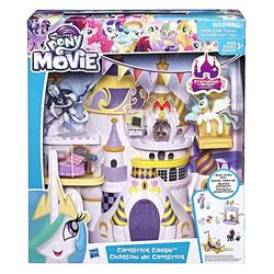 Size: 1000x1000   Tagged: safe, philomena, princess celestia, storm king, phoenix, pony, my little pony: the movie, blind bag, cake, canterlot castle, food, friendship is magic collection, merchandise, toy