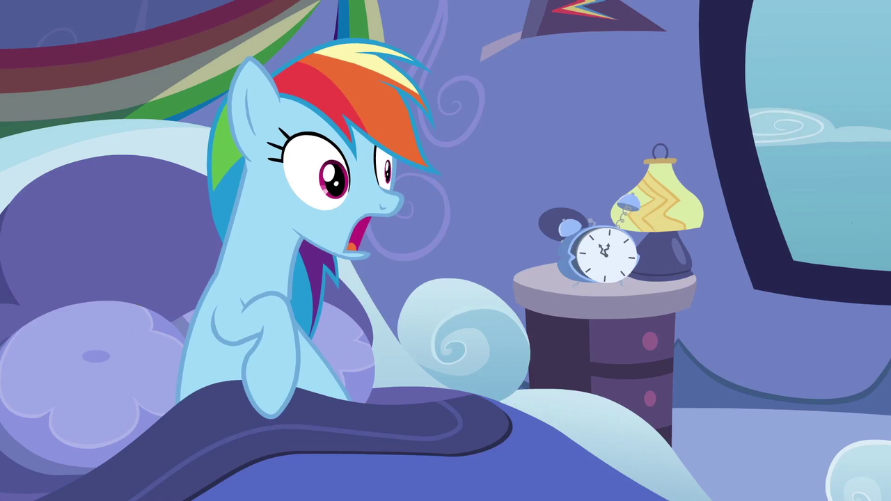 1688797 Bed Clock Gasp Lamp Rainbow Dash Rainbow Dash S