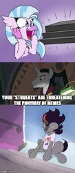 Size: 331x759 | Tagged: safe, artist:lockheart, artist:pikapetey, edit, edited screencap, screencap, chancellor neighsay, king sombra, silverstream, classical hippogriff, hippogriff, pony, unicorn, school daze, crossing the memes, cute, diastreamies, female, king sombra does love stairs, male, meme, ponies the anthology v, sombradorable, speciesism, stairs, stallion, that hippogriff sure does love stairs, that pony sure does love stairs