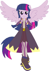 Size: 400x574 | Tagged: safe, artist:selenaede, artist:user15432, twilight sparkle, alicorn, equestria girls, barely eqg related, base used, clothes, crossover, fire emblem, fire emblem: awakening, nintendo, pegasus wings, ponied up, pony ears, robe, robin, robin (fire emblem), shoes, super smash bros., twilight sparkle (alicorn), winged humanization, wings