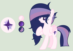 Size: 1024x711   Tagged: safe, artist:princessunicorn123, oc, oc only, oc:starlight shield, pegasus, pony, base used, cutie mark, female, green background, mare, offspring, parent:flash sentry, parent:twilight sparkle, parents:flashlight, reference sheet, simple background, solo