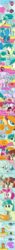 Size: 500x8498   Tagged: safe, artist:emositecc, gallus, ocellus, pinkie pie, sandbar, silverstream, smolder, yona, changedling, changeling, classical hippogriff, dragon, earth pony, griffon, hippogriff, pony, yak, school daze, comic, dialogue, falling, hot air balloon, misunderstanding, speech bubble, student six, this will end in pain, this will end in tears and/or death