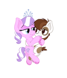 Size: 4331x5006 | Tagged: safe, anonymous artist, diamond tiara, pipsqueak, earth pony, pony, absurd resolution, colored hooves, colt, cuddling, female, fetish, filly, foal, hoof fetish, hoof polish, hug, male, nail polish, piptiara, shipping, simple background, straight, transparent background