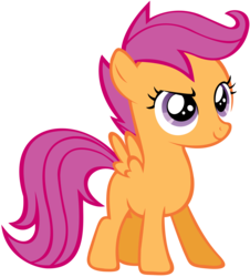 Size: 3000x3312 | Tagged: safe, artist:shelmo69, scootaloo, simple background, solo, transparent background, vector