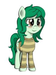 Size: 3502x4672 | Tagged: safe, artist:alphatea, wallflower blush, equestria girls, equestria girls series, forgotten friendship, blushing, clothes, female, simple background, smiling, solo, standing, sweater, transparent background