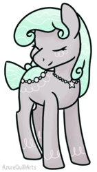 Size: 885x1567 | Tagged: safe, artist:azure-quill, oc, oc:satin, original species, pond pony, pony, eyes closed, female, simple background, solo, transparent background