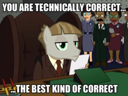 Size: 635x474 | Tagged: futurama, image macro, meme, mudbriar, necktie, safe, technically, technically correct, the maud couple