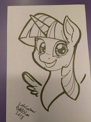 Size: 1080x1440 | Tagged: safe, artist:latecustomer, twilight sparkle, alicorn, pony, female, looking at you, mare, solo, traditional art, twilight sparkle (alicorn)