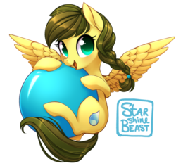 Size: 900x848 | Tagged: artist:starshinebeast, ball, cute, female, looking at you, mare, oc, oc:nemsee, oc only, pegasus, pony, safe, simple background, solo, transparent background