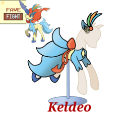 Size: 733x660 | Tagged: artist:ask-nora-the-alicorn, artist:catscat111, artist:catscat112, clothes, dress, keldeo, mannequin, mlp fashion, pokémon, raised hoof, safe, simple background, transparent background