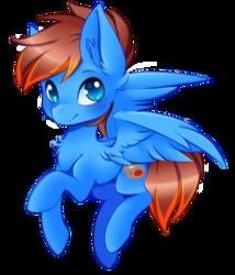 Size: 1644x1918 | Tagged: safe, artist:blazemizu, artist:teranen, oc, oc only, oc:blaze mizu, pegasus, pony, blue eyes, chest fluff, ear fluff, looking at you, simple background, solo, transparent background