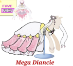 Size: 733x660 | Tagged: safe, artist:ask-nora-the-alicorn, artist:catscat111, artist:catscat112, diancie, clothes, dress, mannequin, mlp fashion, pokémon, simple background, transparent background