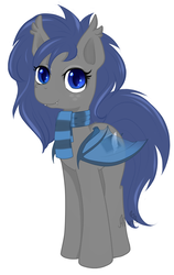 Size: 876x1389 | Tagged: safe, artist:afuna, oc, oc only, oc:midnight feathers, bat pony, pony, bat pony oc, clothes, console, feather, female, mare, scarf, screen, simple background, solo, standing, transparent wings, white background