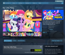 Size: 1005x849 | Tagged: safe, applejack, fluttershy, pinkie pie, rainbow dash, rarity, twilight sparkle, alicorn, my little pony: the movie, discussion in the comments, mane six, steam (software), twilight sparkle (alicorn)