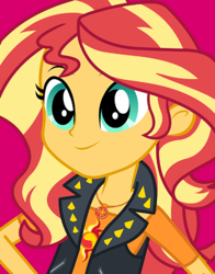 Size: 434x554   Tagged: safe, sunset shimmer, human, equestria girls, cute, female, geode of empathy, jewelry, magical geodes, smiling, solo