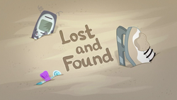 Size: 1920x1080 | Tagged: equestria girls, equestria girls series, ice skates, lost and found, no pony, phone, safe, sand, screencap, title card, trash