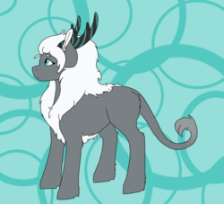 Size: 1100x1000 | Tagged: safe, artist:shortcake1284, oc, oc:aerostorm, hybrid, my little pony: the movie, female, offspring, parent:songbird serenade, parent:storm king, solo