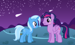 Size: 6400x3840 | Tagged: alicorn, artist:themexicanpunisher, dusk shine, dusktrix, female, lesbian, male, rule 63, safe, shipping, straight, trixie, trixshine, twilight sparkle, twilight sparkle (alicorn), twixie