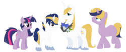 Size: 1434x594 | Tagged: safe, artist:tomee-bear, prince blueblood, twilight sparkle, alicorn, family, female, male, offspring, parent:prince blueblood, parent:twilight sparkle, parents:twiblood, shipping, simple background, straight, transparent background, twiblood, twilight sparkle (alicorn)
