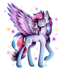 Size: 1593x1773 | Tagged: abstract background, artist:mlp-norica, chest fluff, cutie mark, ear fluff, female, fusion, mare, pegasus, pony, princess cadance, rainbow dash, safe, simple background, smiling, solo, transparent background