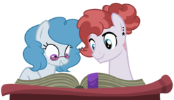 Size: 1234x713 | Tagged: artist:crystalponyart7669, book, female, glasses, magical lesbian spawn, mare, oc, oc only, oc:sapphire, oc:sundance, offspring, parent:pinkie pie, parent:rainbow dash, parents:pinkiedash, pony, safe, simple background, transparent background