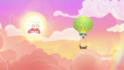 Size: 1280x720 | Tagged: safe, edit, edited screencap, screencap, grannies gone wild, hot air balloon, rick and morty, screaming sun, sun