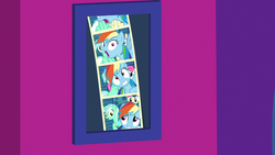 Size: 1920x1080 | Tagged: bon bon, grannies gone wild, lyra heartstrings, photobomb, photo booth, rainbow dash, safe, screencap, spoiler:s08e05, sweetie drops